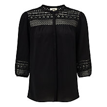 Buy Somerset by Alice Temperley Lace Insert Silk Blouse Online at johnlewis.com
