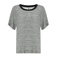 Buy Kin by John Lewis Melange Print Top, Grey Online at johnlewis.com