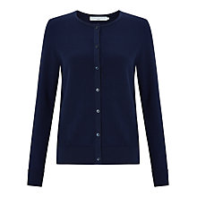 Buy John Lewis Capsule Collection Gassed Cotton Cardigan, Navy Online at johnlewis.com