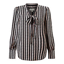 Buy Somerset by Alice Temperley Opel Print Blouse, Black/Cream Online at johnlewis.com