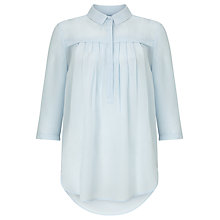 Buy John Lewis Capsule Collection High Low Silk Blouse, Blue Bouquet Online at johnlewis.com