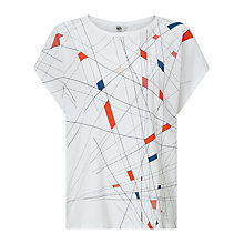 Buy Kin by John Lewis Graphic Cotton T-shirt, White Online at johnlewis.com