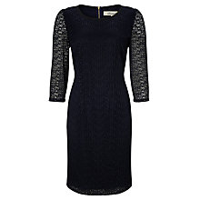 Buy Somerset by Alice Temperley Lace Pencil Dress, Navy Online at johnlewis.com
