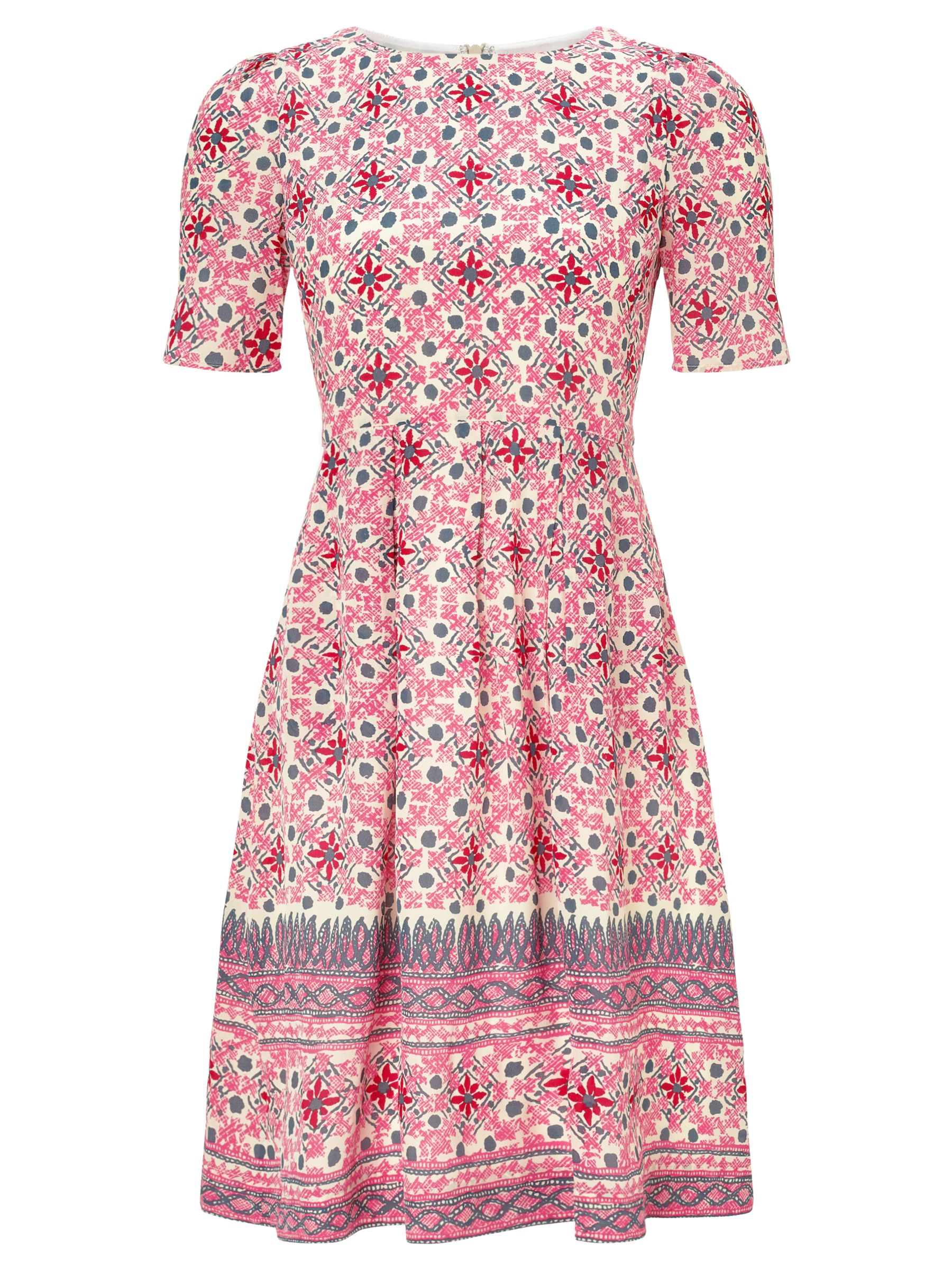 Somerset by Alice Temperley Mexican Border Silk Dress, Pink