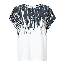 Buy Kin by John Lewis Ink Print Cotton T-shirt, White Online at johnlewis.com