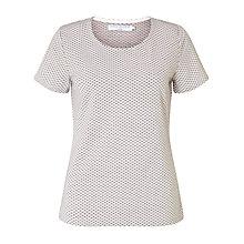 Buy John Lewis Capsule Collection Textured Spot Top, Zinc Online at johnlewis.com