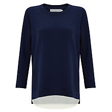 Buy John Lewis Capsule Collection Gassed Cotton Jumper, Navy Online at johnlewis.com
