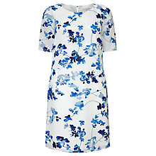 Buy John Lewis Capsule Collection Shift Dress, White/Blue Online at johnlewis.com
