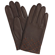 Buy John Lewis Silk Lined Leather Gloves Online at johnlewis.com