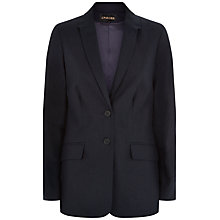 Buy Jaeger Casual Linen Blazer, Midnight Online at johnlewis.com