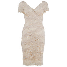 Buy Gina Bacconi Beaded Lace Dress, Champagne Online at johnlewis.com
