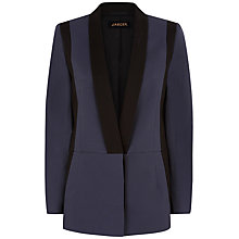 Buy Jaeger Tailored Jacket, Navy/Black Online at johnlewis.com