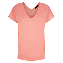 Buy Jaeger Silk Wool Knit Top, Peach Blossom Online at johnlewis.com