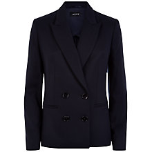 Buy Jaeger Double Breasted Jacket, Navy Online at johnlewis.com