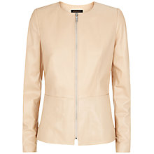 Buy Jaeger Leather Jacket, Cuban Sand Online at johnlewis.com