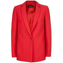 Buy Jaeger Ottoman Cotton Jacket, Haute Red Online at johnlewis.com
