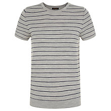 Buy Jaeger Gostwyck Striped Top, Grey/Navy Online at johnlewis.com