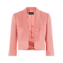 Buy Jaeger Linen Silk Jacket, Peach Blossom Online at johnlewis.com