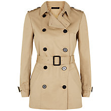 Buy Jaeger Double Breasted Trench Coat, Stone Online at johnlewis.com