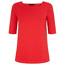 Buy Jaeger Cotton Panel Top, Haute Red Online at johnlewis.com