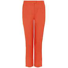 Buy Jaeger Linen Cropped Trousers, Paprika Online at johnlewis.com