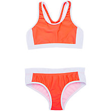 Buy Seafolly Girls' Action Back Bikini, Orange Online at johnlewis.com