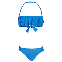 Buy Seafolly Summer Girls' Camp Mini Tube Bikini, Blue Online at johnlewis.com