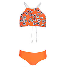 Buy Seafolly Girls' Daisy Apron Tankini, Orange Online at johnlewis.com