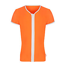 Buy Seafolly Girls' Zip-Front Rash Vest, Orange Online at johnlewis.com