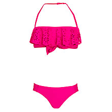 Buy Seafolly Girls' Bright Frill Tube-Top Bikini, Hot Pink Online at johnlewis.com