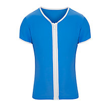 Buy Seafolly Children's Zip Through Rash Vest, Blue Online at johnlewis.com