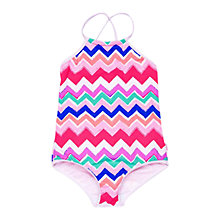 Buy Seafolly Girls' Tank Gelato Swimsuit, Multi Online at johnlewis.com