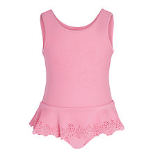 Buy Seafolly Girls' Peplum Flutter Bye Tank Swimsuit, Pink Online at johnlewis.com
