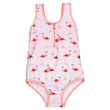 Buy Seafolly Girls' Zip Front Tank Swimsuit, Pink Online at johnlewis.com