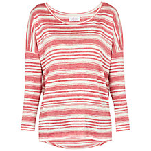 Buy Velvet Helena Heather T-shirt, Coral Online at johnlewis.com