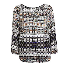 Buy Velvet Pascha Bengal Peasant Top, Multi Online at johnlewis.com