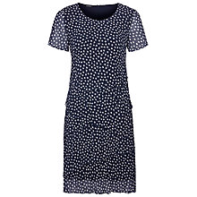 Buy Gerry Weber Dot Crinkle Dress, Navy/white Online at johnlewis.com