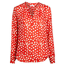 Buy Velvet Luca Printed Blouse, Royalty Online at johnlewis.com