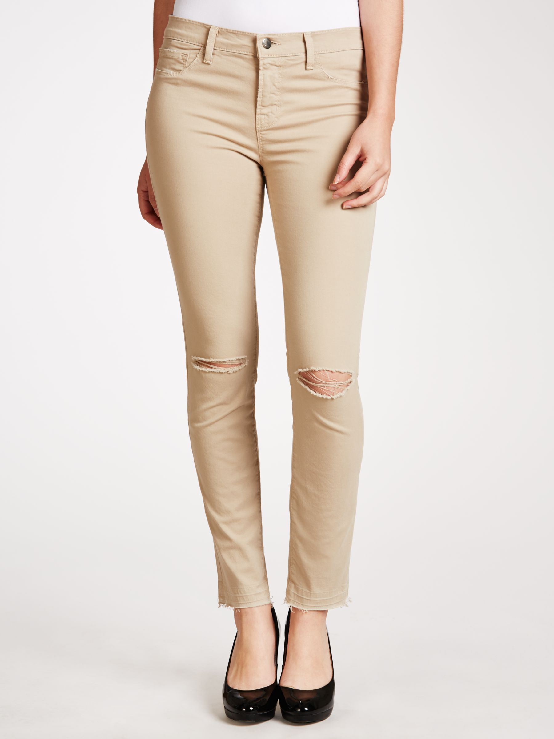 J Brand J Brand Skinny Twill Jeans, Sand Sky