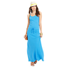 Buy Lauren Ralph Lauren Striped Cotton Maxidress, Antigua Blue Online at johnlewis.com