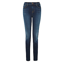 Buy J Brand Maria High Rise Straight Jeans, Starlight Online at johnlewis.com