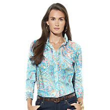 Buy Lauren Ralph Lauren Priya 3/4 Sleeve Shirt, Multi Online at johnlewis.com