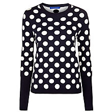 Buy Winser Spot Jumper, Midnight/Ivory Online at johnlewis.com