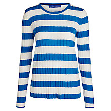 Buy Winser London Stripe Rib Jumper, Cambridge Blue Online at johnlewis.com