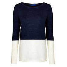 Buy Winser Colour Block Jumper, Midnight/Ivory Online at johnlewis.com