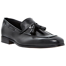 Buy Dune Rupert Leather Tassel Loafers, Black Online at johnlewis.com
