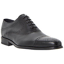 Buy Dune Black Railway Leather Brogues, Black Online at johnlewis.com