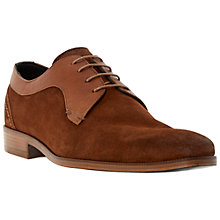 Buy Dune Black Revered Mixed Leather Derby Shoes, Tan Online at johnlewis.com