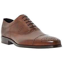 Buy Dune Railway Leather Brogue Shoes, Tan Online at johnlewis.com