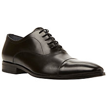 Buy Dune Black Spitfire Leather Oxford Shoes, Black Online at johnlewis.com